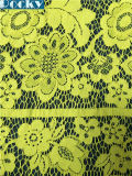 Yellow Lace Dress Fabric Stretch Lace Fabric for Lady