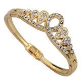 OEM Women Crown Design Alloy Gold Color Bracelet for Gift