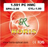 1.591 Polycarbonate Lens PC Single Vision Hmc Optical Lenses