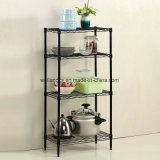 NSF Approval 4 Tiers Sundries Storage Shelving Metal Kitchen Wire Rack From Shelf Factory