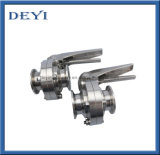 China Sanitary Tri Clamp Butterfly Valves with Stainless Steel Handle