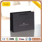 Black Luxury Hot Stamping Diamonds Gem Chain Gift shopping Paper Bag
