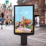 City Street Outdoor Advertising Backlit LED Scrolling Light Box