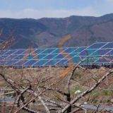 Solar Power System with Ground Screw Solar Support