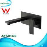 Watermark Approved Wall Black Basin Mixer Tap