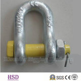 Us Type Drop Forged G2150 Chain Shackle of Rigging Hardware