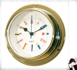Nautical Quartz Clock 12 Hour Signal Flag Numberal Gl122-C3