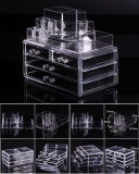 Cosmetic Organizer Makeup Drawers Display Box Acrylic Cabinet Case