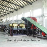 Full Automatic Waste Tyre Recycling Machine with Tyre Crusher