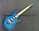 Suhr Style Modern Blue Quilted Maple Top Electric Guitar (GSH-6)