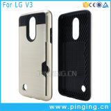 Hybrid Card Slot Shockproof Phone Case for LG Aristo/LV3/V3