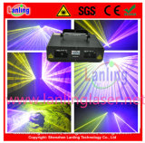 Double Yellow and Rose Laser Disco Lighting