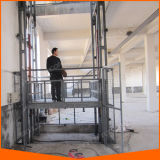 2 Guide Rails Steady Cargo Lift Warehouse Lift with Ce Certificate