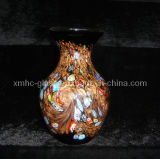 Murano Handblown Stained Art Decorative Glass Vase (XMHCV-334)