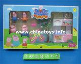 Promotion Gift Plastic Toys Pigl Family House Set Toys for Girl (1048703)