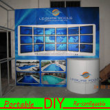 Custom Design Portable Modular Fabric Display Backdrop with Counter