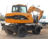 China New Hydraulic Excavator 8 Ton 39.8kw Wheel Excavator for Sale