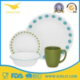 Wholesale Plate Bowl Cup Set Melamine Round Dinnerware