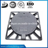Road Sanitary Ductile/Wrought Iron Resin Coated Sand Casting Manhole Grate Covers