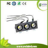 White 4000k-4500k 3*6W Square LED Downlight with CE/RoHS Approved