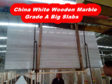 Marble White Wooden Vein Gangsaw Saw Big Slab / Marble
