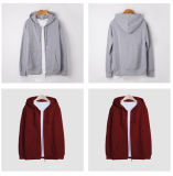 Wholesale China Manufacturer Knitted Plain Blank Full Zipper Hoodies