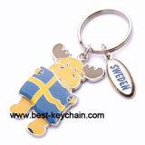 Metal Custom Design Souvenir Swedn Moose Keyring (BK52477)