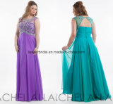 Plus Size Ladies Party Dress A-Line Prom Evening Dresses Ra925