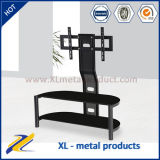 Glass TV Stand with Bracket TV Holder