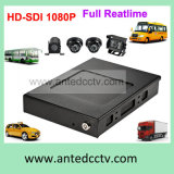 3G 4G Hard Drive HDD 4CH Car Fleet Management DVR with GPS Tracking