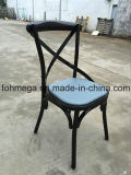 Metal Cross Back Food Court Chair with Cushion (FOH-BC102)