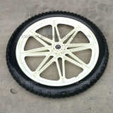 """Solid Rubber or Pneumatic or PU Foam Tire Tyre with Plastic Wheel 10"""" 12"""" 14"""" 16"""" 20"""""""