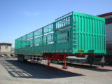 3 Axle 12 Wheels Storehouse or Fence Semi Trailer Bulk Cargo Semi Trailer