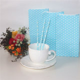 Blue Dots Printed Party Favor Paper Candy Bag