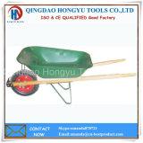 Wooden Handle 150kgs Heavy Duty Wheel Barrow with Pneumatic Wheel
