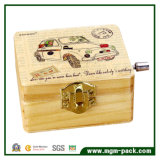 8 Tone Retro Handcrank Wooden Music Box for Gift