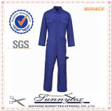 Navy Overall Workwear Coverall Uniform with Pocket