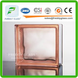 Pink Cloudy Glass Block/Glass Brick with Size 190*190*80mm