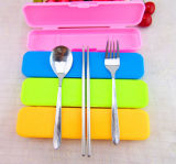 Stainless Steel Fork and Spoon with Plastic Gift Set