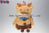 "19.6""Brown Deer Shape Children′s Plush Cartoon Backpack Backpack Kindergarten Pupils Bags Bos1225/50cm"