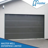 Wooden Grain Vertical Tilt up Stainless Steel PU Foaming Rectangle Garage Side Doors Prices Lowes / Window Kit / with Windows Inserted
