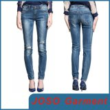 Women Knee Destroyed Denim Jeans (JC1136)