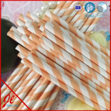 Orange Long Stripe Straws Paper Straws Drinking Straws
