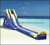 Inflatable Water Slides, Giant Beach Slide with Wooden Stairs, Hippo Slide