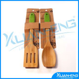 Set of 2 - Classic Long Handle Wooden Kitchen Cooking