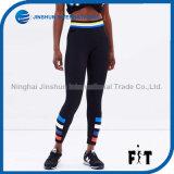 2017 Multicolor Stripe Printing Women′s Leggings Sexy Black Push up Slim Pants Force Exercise Elastic Dry Quick Fitness Leggings
