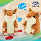 Lovely Talking Hamster Plush Toy Sound Record Speaking Hamster Talking Educational Toys for Children Christmas Gift