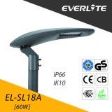 Everlite High Quality 60W LED Street Light with IP66 Ik10
