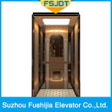 Commercial Building Passenger Elevator with Rose Gold Stainless Steel Decoration