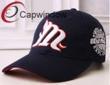 Black Flat and 3D Embroidery Fashion Leisure Sport Baseball Cap